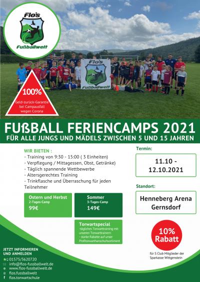 Fußballcamp 2021 Gernsdorf