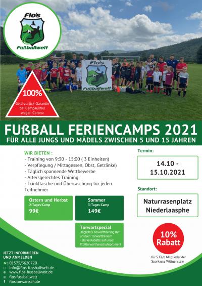 Fußballcamp 2021 Niederlaasphe